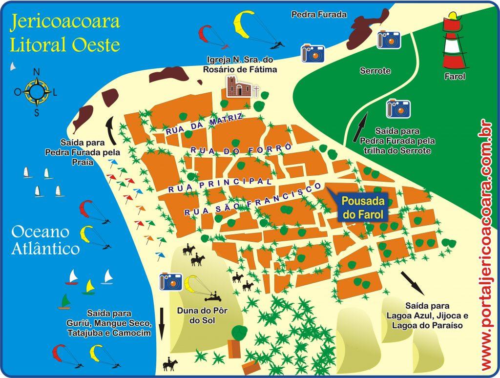 Pousaada do Farol - Localização em Jericoacoara