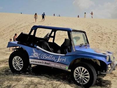 Buggy no pé da duna Por do Sol em Jericoacoara