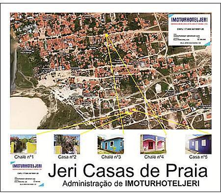 Mapa de casas para temporada em jericoacoara