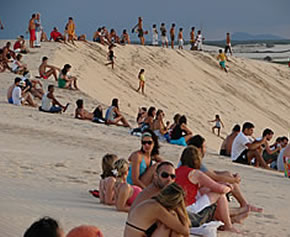 duna por do sol em Jaricoacoara